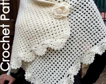 Crochet Shawl Wrap - PDF Pattern