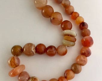 Agate Beads - 35 beads - assorted sizes