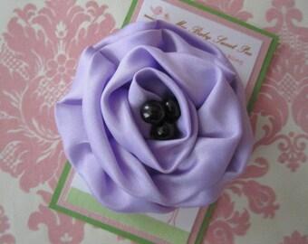 Girl hair clips - purple flower hair clips - girl barrettes