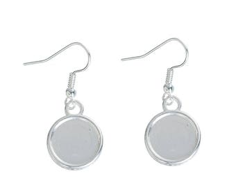 10 pairs earrings silver 12mm - SC0082232 cabochon-