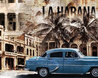 Cuba, Colorful Wall Art, Digital Art, Printable Poster, Digital Download, Printable Photography, Printable Art,  Photographic Collage