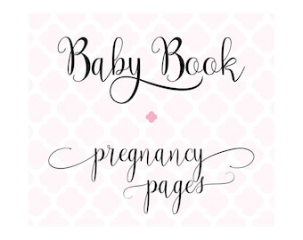 Set of 20 Pregnancy Journal Pages for Charmbooks Baby Memory Books