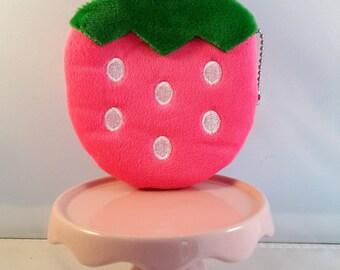pink strawberry purse