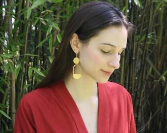 Boho Earrings, Bold Earrings, Circle Earrings, Statement Earrings, Minimalist Jewelry, Gift for Her, RISE