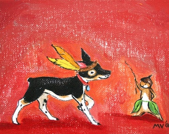 """A Cowboy and Indian - PRINT 8x10"""""""
