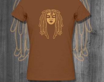 Dreaded Love T shirt Natural Hair tops and tees t-shirts t shirts  Free Shipping