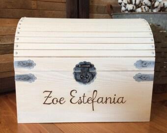 Personalized Keepsake Box, baby keepsake box, wedding keepsake box, engagement box, memorial box, memory box