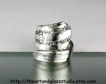 Silver Spoon Ring LIDO Jewelry Vintage, Silverware, Gift, Anniversary, Wedding, Birthday AF842