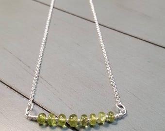 Sterling Silver Peridot Necklace / Peridot Necklace / Peridot Jewelry / Peridot Gemstone Necklace / August Birthstone