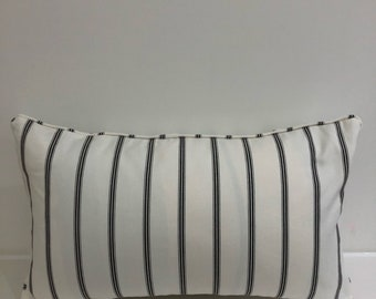 Romo black and white ticking fabric 18x12inches