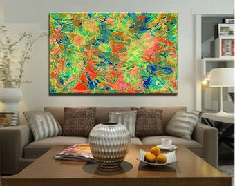 Abstract floral painting, abstract giclee print, Extra large wall art for modern home decor, oversize art, living room decor