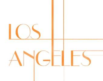 Los Angeles Art Deco Print