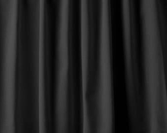 12'Hx4-1/2'W Stage Curtain/Backdrop Panel BLACK FR