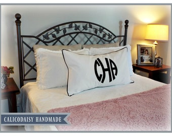 The JUMBO Marchand Applique Monogrammed Pillow Sham - King 20 x 36