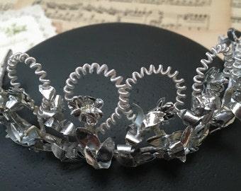 Rareza: Corona nupcial, tiara de la boda, antiguo corona, DDR, boda, novia, flores corona, joyería del pelo, tiara de la boda, corona de novia, venda del pelo, Vint
