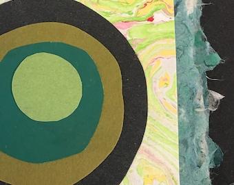 Small Handmade Paper Circles Journal