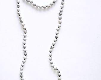 Marble Bead Wrap Necklace