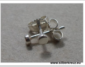 Mini studs. Point. --Silver 925 3 mm (O-1045)