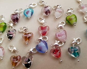 Add A Glass Heart To Your Bracelet