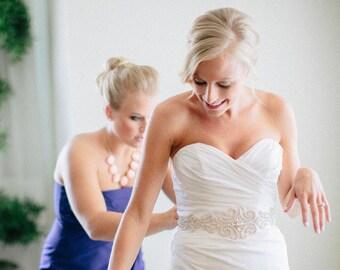 Bridal Sash, Bridal Belt, Swarovski Crystal Bridal belt, Bridal Sash Belt, Beaded Bridal Belt, Wedding Belt, Swarovski bridal Sash, Vintage