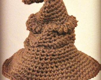 Crocheted Wizard Hat, All Sizes Available