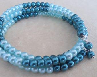 Swarovski Pearl wrap around bracelet