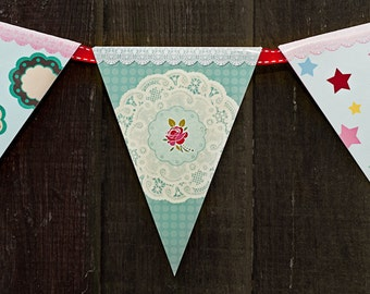 INSTANT DOWNLOAD PRINTABLE  Tea Party  Bunting