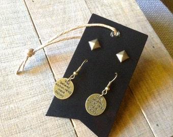 Earrings | Oxidized Brass