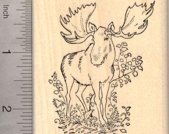 Moose Rubber Stamp K20001 - Wood Mounted