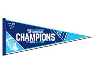 "Villanova Wildcats NCAA Basketball National Champions Pennant - 12"" X 30"""