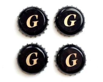 Craft Beer Magnet Set, Geary Brewery Magnets,Portland Maine Beer Bottle Top Magnets, Set of Four, File Cabinet Magnet, Refridgerator Magnets