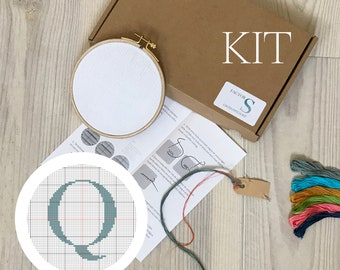letter Q - cross stitch kit
