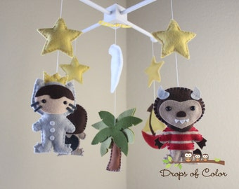 Baby Mobile - Baby Crib Mobile - Where the Wild Things Are Mobile - Nursery Monsters Mobile - Max Book Story Nursery