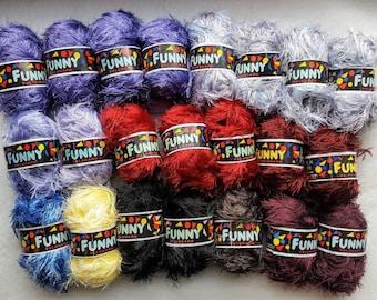 Norwegian Yarn, Sandnesgarn Funny Skeins. Assorted Colors
