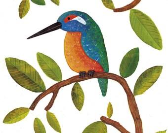 Kingfisher Print