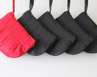 Set of 5 Bridesmaid Clutch Purses **Special Offer** - Bridesmaid Gift !!   Clutch Purses (choose your colours)