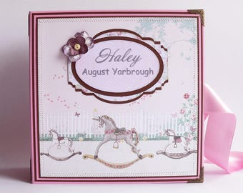 Customised Baby Girl Scrapbook, Baby Girl Photo Book, Custom Baby Girl Photo Album, Baby Girl Memory Book, Custom Baby Girl Shower Gift