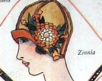 1922 Womens Flapper Hat Patterns- eBook PDF 7 Different Hats Instant Download