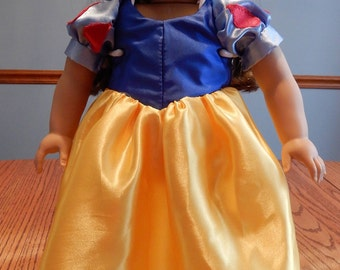 """Snow White Doll Gown/ Fits 18"""" doll"""