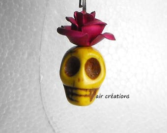 Pendants BCL.1313 on earrings extra long skull beads