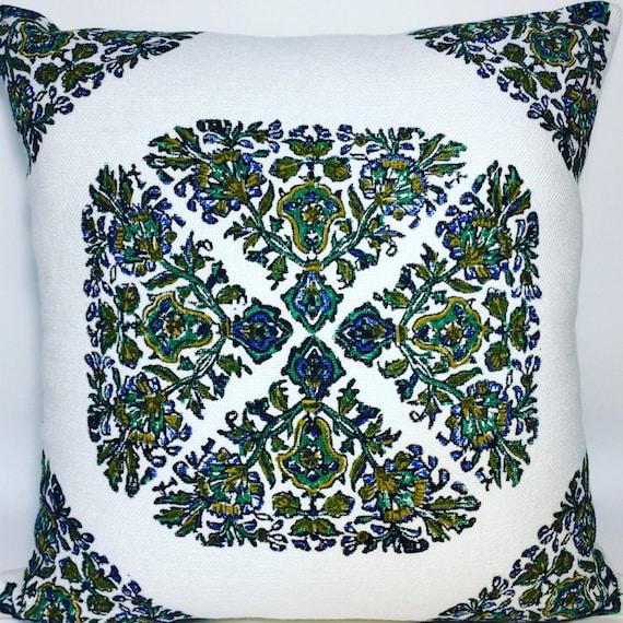 modern green pillow| block printed green pillow| linen pillow case| PILLOW CASE| case dresses| sofa cushion| linen pillow|gift for new home