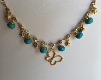 Natural Turquoise Chain Bracelet December Birthstone