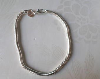 x 1 snake silver plated 925/20 cm bracelet