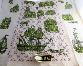 Vintage Tea Towel Eastern Theme by Ann Clark