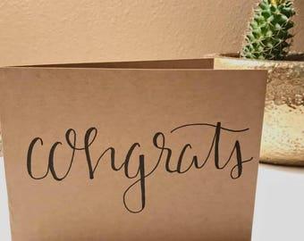 "greeting card: ""congrats!"""