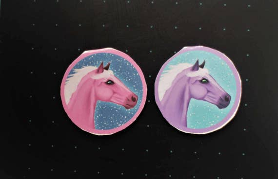Pastel Horse Magnetic Bookmarks