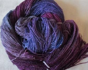 Handpainted Yarn-Soft Rayon Boucle Sport Wt. - 375 yds - BOYSENBERRY