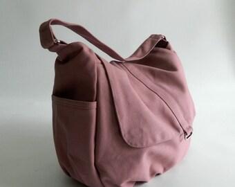 Mothers day sale - Pale Pink diaper bag,girl Cross body bag, women shoulder bag,canvas school bag,Handbag for mom / Sale 25% - no.18 -DANIEL