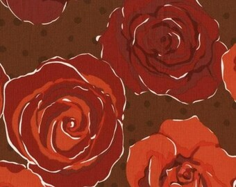 """Olive Rose Red Floral Roses fabric by Valorie Wells for FreeSpirit fabrics 54"""" wide"""