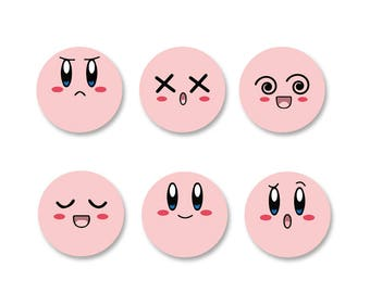 Lot Pins Ø25mm - o38mm Pinback Button Badge / Magnet o38mm Kirby
